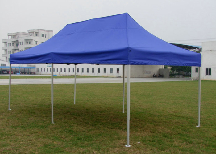 Diamond Blue Canvas Pop Up Gazebo 3x6 , Portable 3m X 6m Waterproof Gazebo Tent