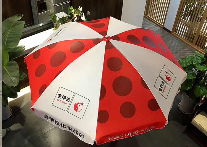 Waterfront Garden Patio Umbrellas Digital Printing For Outdoor Advertising